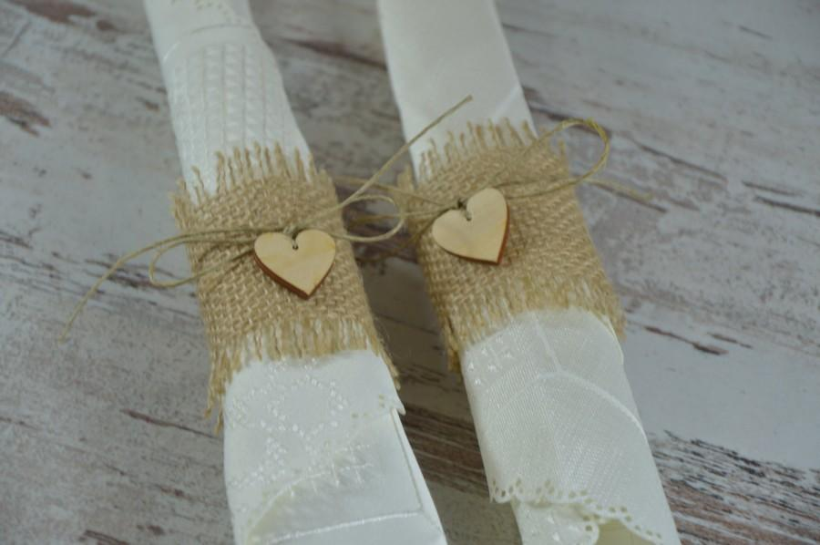 Mariage - Rustic Style Rustic 110  Burlap Napkin Rings ,rustic napkin rings wedding napkin ring
