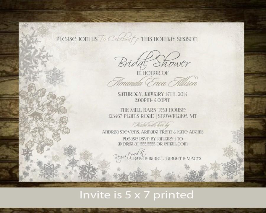 Winter bridal shower invitation snowflakes bridal shower invite winter bridal shower invitation snowflakes bridal shower invite printable digital silver and gold snowflake rustic bridal shower digital filmwisefo Choice Image