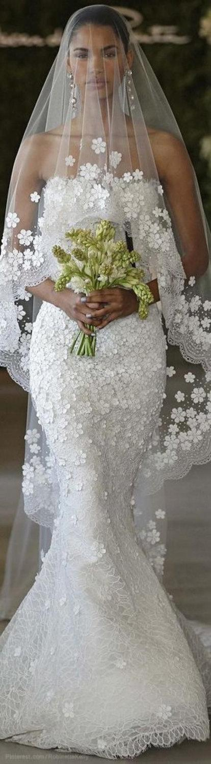 Mariage - RTW and Custom made in Italy silk tulle bridal veils with Swarovski elements