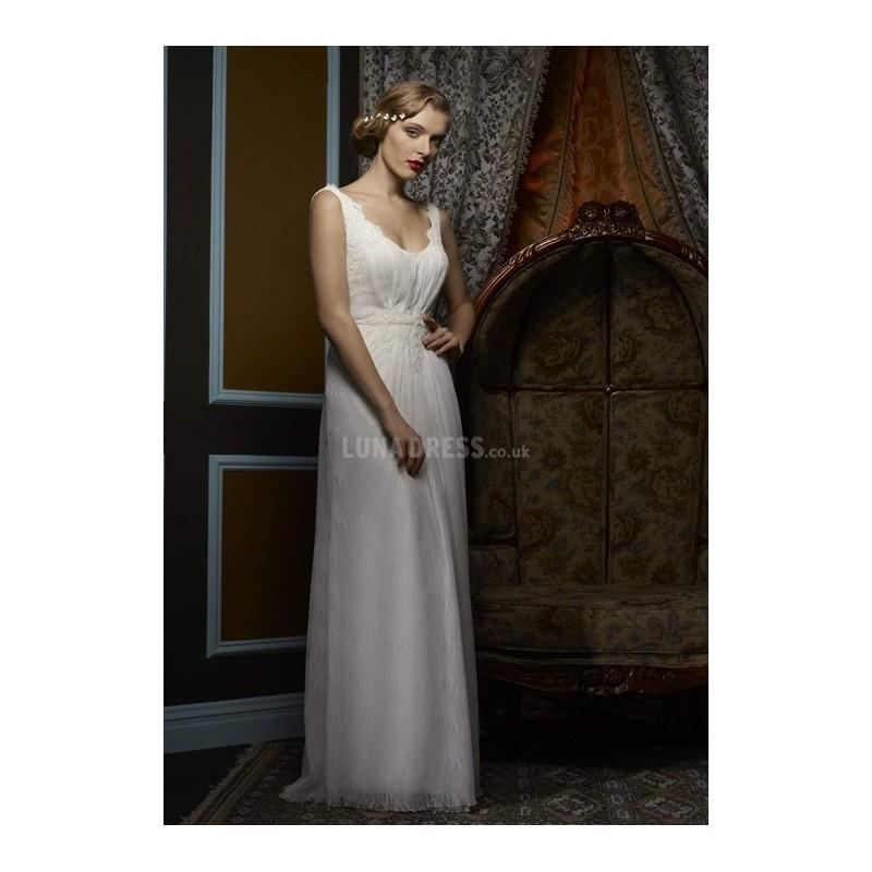 Wedding - Sexy A line Tulle Floor Length Straps Wedding Dress With Lace - Compelling Wedding Dresses