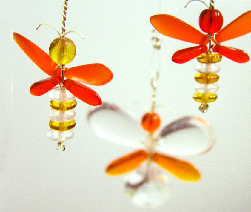 yellow firefly halloween decorations ornament suncatcher orange butterfly mobile window decor children hanging mobile australia kids gift