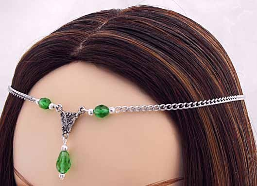 Mariage - Diana Circlet Custom made Renaissance Wedding headpiece crown tiara Diadem medieval renaissance circlet
