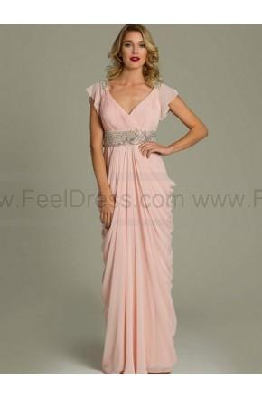 Свадьба - Sheath/Column V-neck Floor-length Chiffon Mother of the Bride Dress