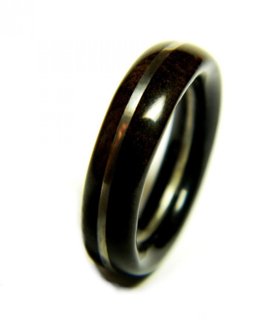 sharp ebony wood ring, jewelry, ring, wood jewelry, wedding