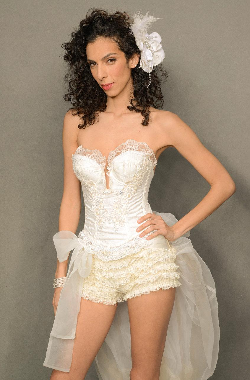 Hochzeit - Fancy Ivory bustier, Wedding Lingerie, Steampunk, Renaissance, Pirate, Faery, Corset With Lace , Pearl, And Sequin Applique',