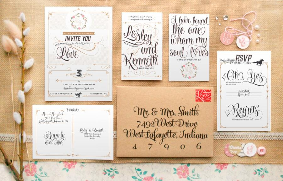 Romantic Amp Rustic Wedding Invitations