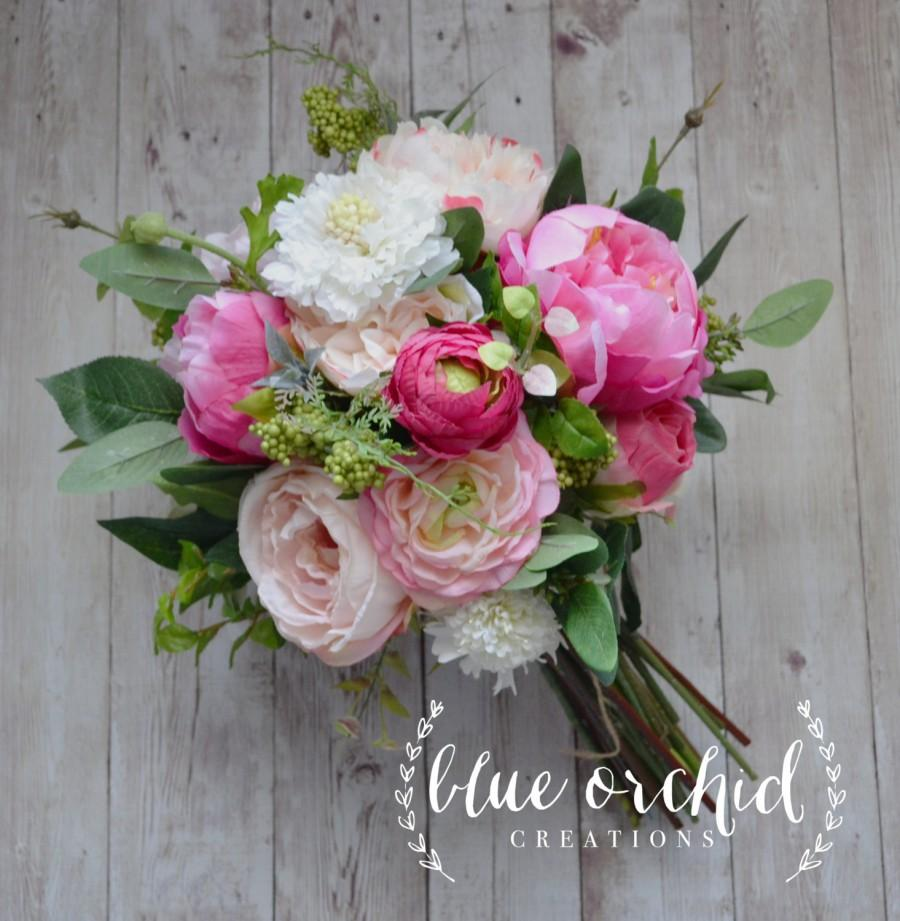 Wedding bouquet peony bouquet garden bouquet wildflowers boho wedding bouquet peony bouquet garden bouquet wildflowers boho bouquet wildflower bouquet silk flowers pink bridal bouquet wedding izmirmasajfo