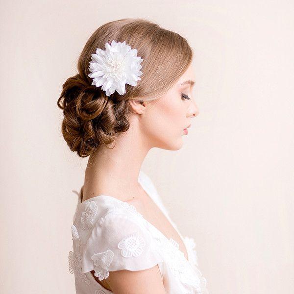 Mariage - Bridal Hair Flower Dahlia