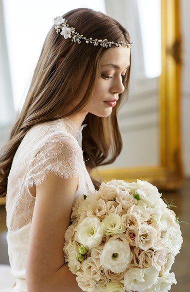 Свадьба - Pearl & Crystal Embellished Halo