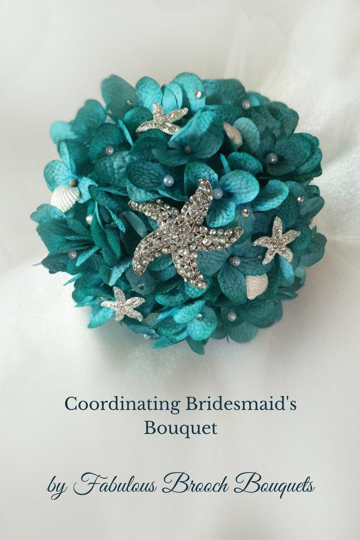 Mariage - Beach Bouquet, Bridesmaid Bouquet, Brooch Bouquet, Destination Wedding Bouquet, Mini Bouquet