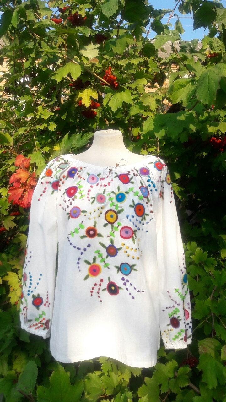 13cd83185c2 Wedding - Felted blouse flowers ornament felted embroidery bright style  ethnic style folk style boho blazers