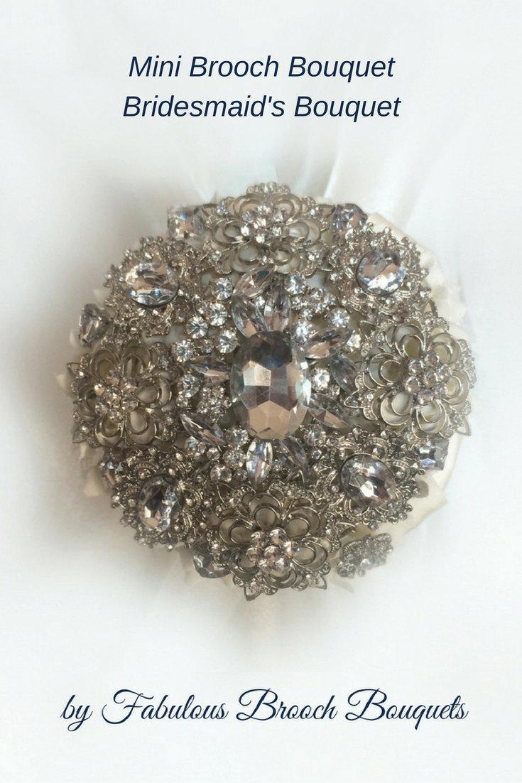 Mariage - Mini Brooch Bouquet, Bridesmaid Bouquet, Bridesmaids Bouquet, Full Price