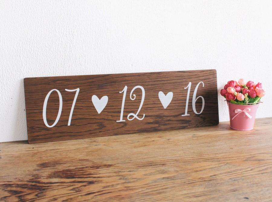 Mariage - Save the Date Wooden Sign - Engagement Announcment Sign - Photo Prop - Wedding Decor, Boho Wedding, Wedding Photo Prop
