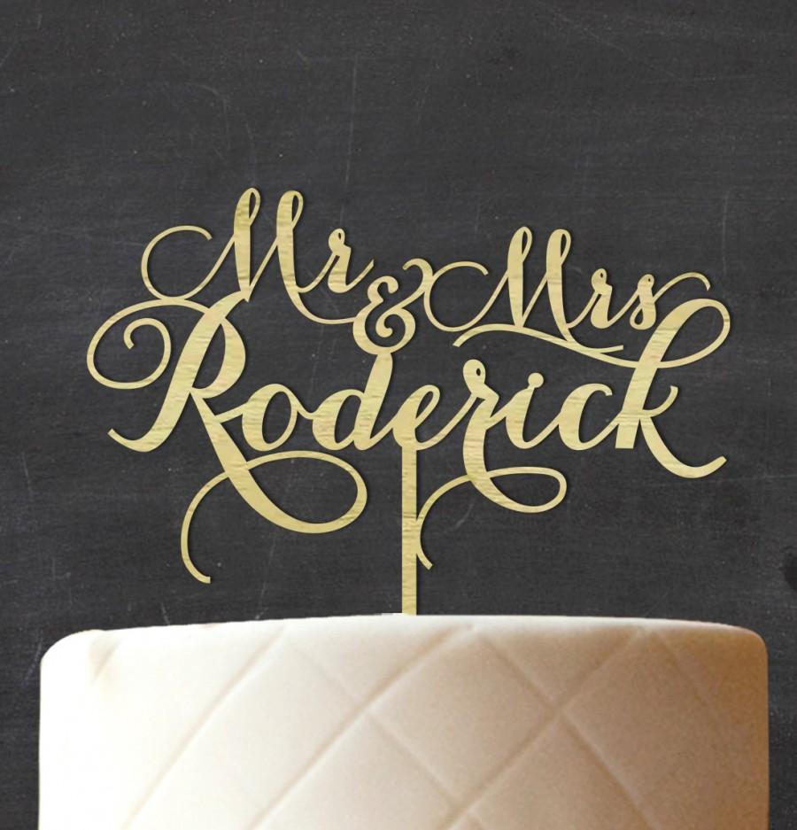 زفاف - Mr & Mrs Custom Wood Cake Topper, Personalized Name Wedding Rustic Cake Topper, Wooden Cake Topper, Rustic Topper, Engagement Gift CATO-W73