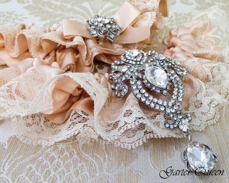 Свадьба - Bridal garter set, Blush Wedding Garter set, Ivory Lace Garter, Lace Wedding Garter, Ivory Garter Set