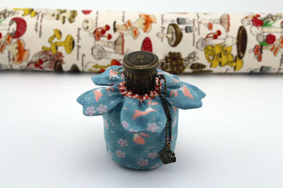 Sake Bottle Clutch With Nile Bluejapanese Traditional Cute Rabbit
