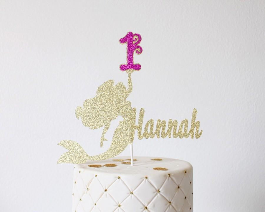 Mermaid Cake Topper Mermaid Birthday Mermaid Party Cake Topper