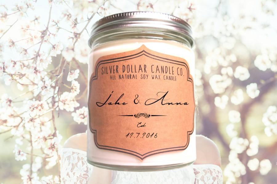 Candle Wedding Gift: Unique Personalized Wedding Favor, Wedding Gift, Wedding