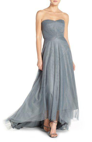 Wedding - Bridesmaids Pleat Tulle Strapless Gown