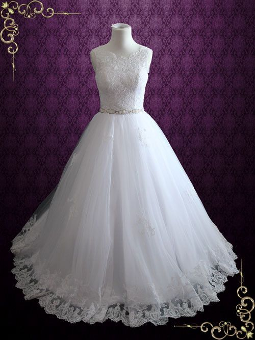 Mariage - Princess Lace Ball Gown Wedding Dress