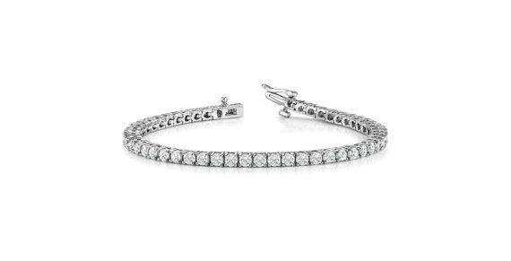 Hochzeit - 5 carat Forever One Moissanite Tennis Bracelet 14k White Gold, 18k or Platinum, Forever One Moissanite Bracelets for Women, Anniversary Gift