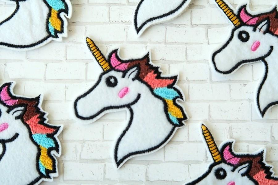 Mariage - Unique Iron on Patch - Unicorn Patch Unicorn Iron on Patches Applique Embroidered Patch Sew On Patch, Elana's Best Gift
