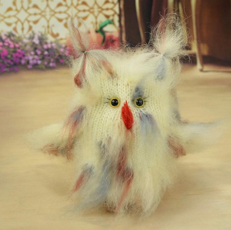 Amazon.com: Crochet Amigurumi Blue Owl Plush Stuffed Animal: Handmade | 805x808