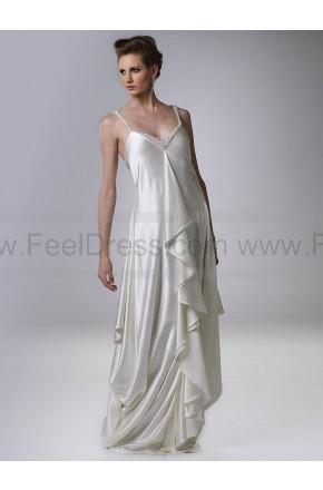 Свадьба - A-line V-neck Silver Beading Elastic Woven Satin Sleeveless Floor-length Mother of the Bride Dress