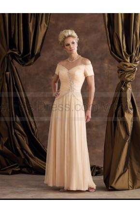 Mariage - Off Shoulder V Neck Embroidery Floor_length Evening Dress
