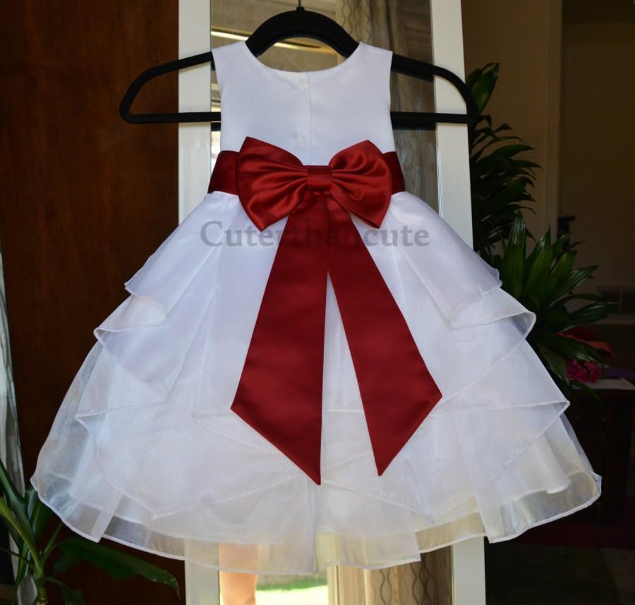 Wedding - New Handmade Organza Flower Girl Dress Bridesmaid Summer Easter Pageant Wedding Toddler BowTie Recital Holiday Junior Special Occasion