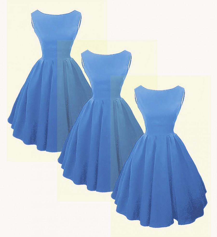 Hochzeit - Elizabeth Stone, Audrey Hepburn style 50s Rockabilly Bridesmaid Dress.