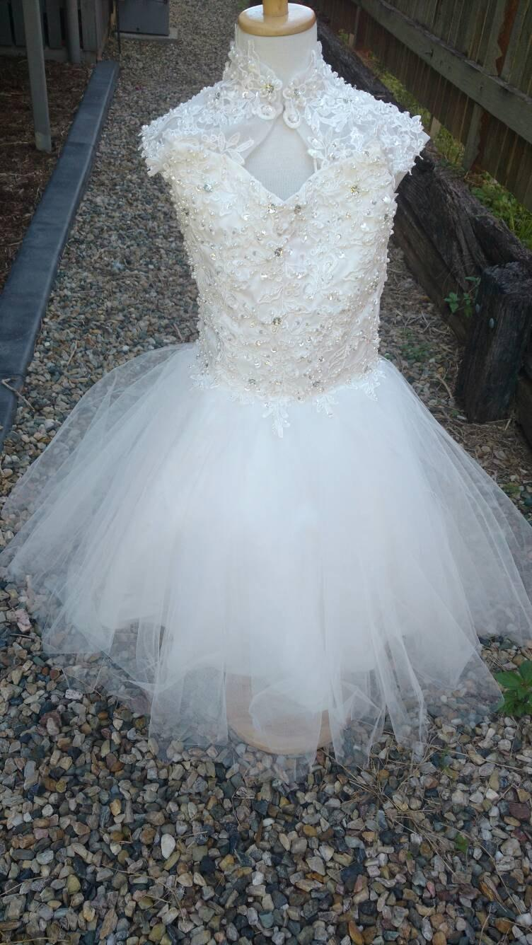 Stunning Ivory Or White Lace Beaded FlowerGirl Dress Baby ...