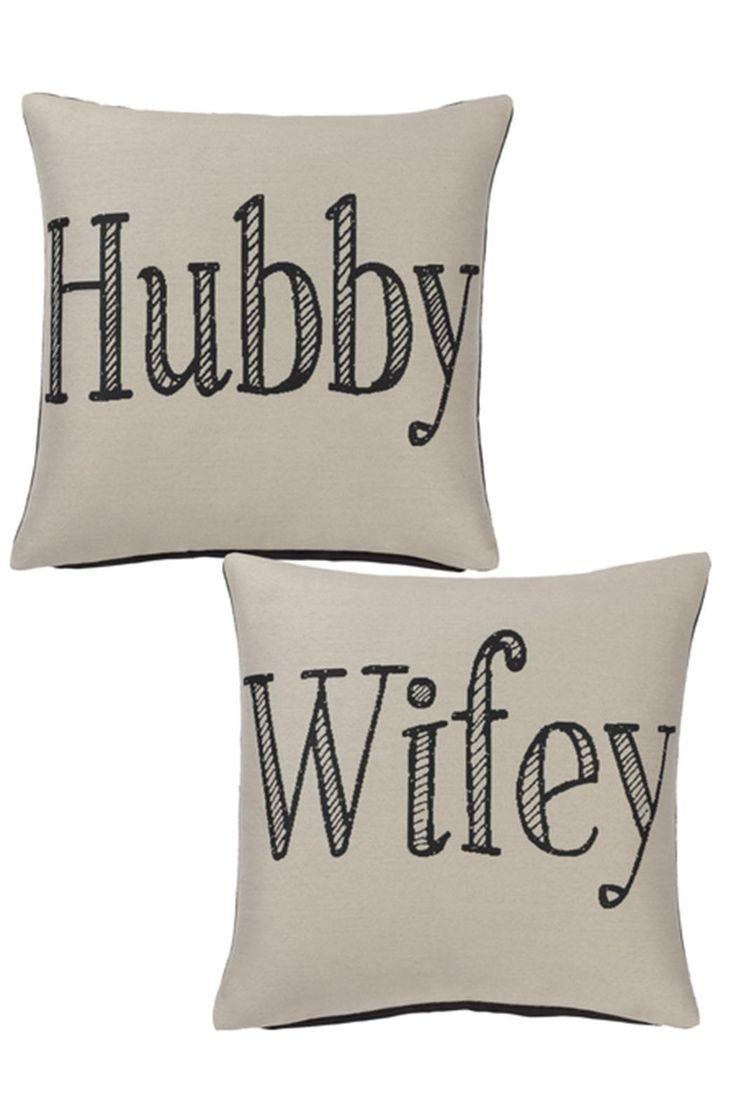Wedding - Wifey Hubby Pillow Set