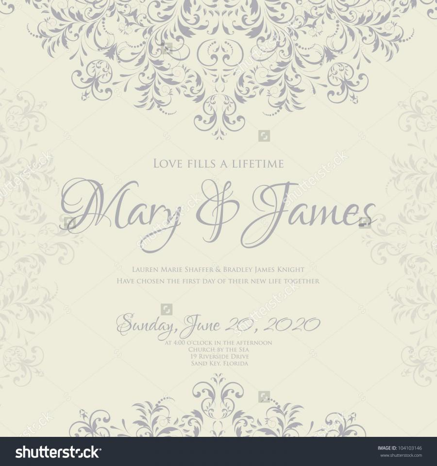Wedding card or invitation with abstract floral background greeting wedding card or invitation with abstract floral background greeting card in grunge or retro style elegance pattern with flowers roses floral illustration m4hsunfo