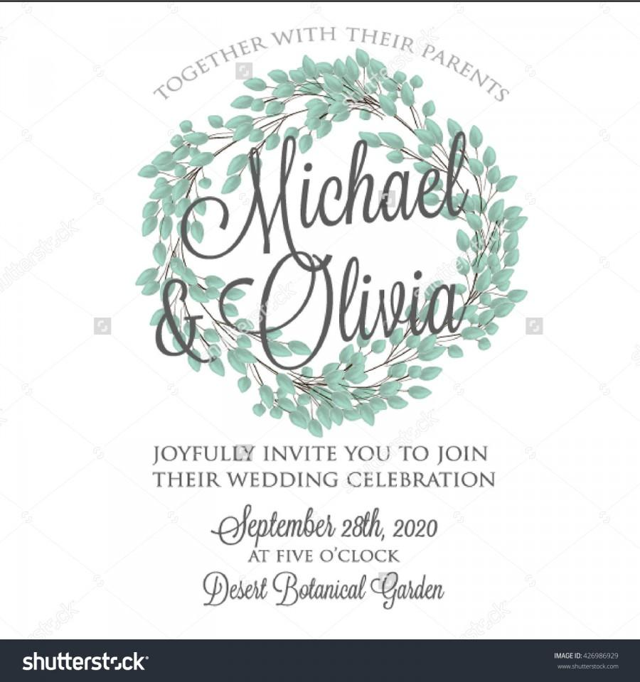 Wedding Invitation Thank You Card Save The Date Cards Wedding Set RSVP Card Vector Hand