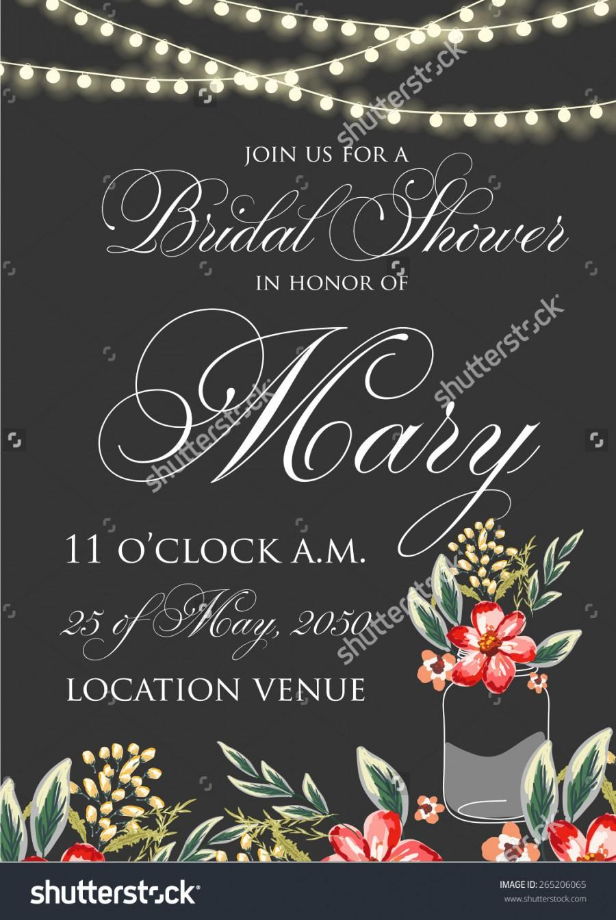 Wedding - Bridal shower invitation