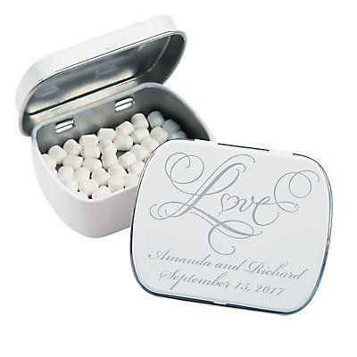 Mariage - Personalized Love Wedding Tins with Mints