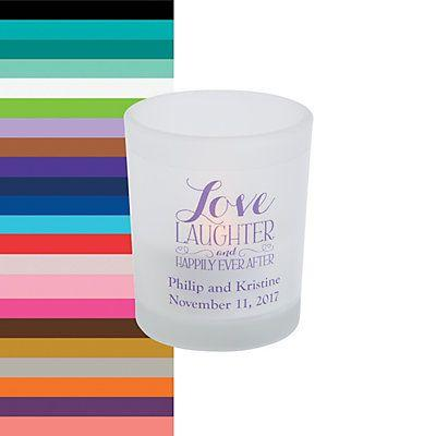 Mariage - Personalized Happily Ever After Votive Candle Holders