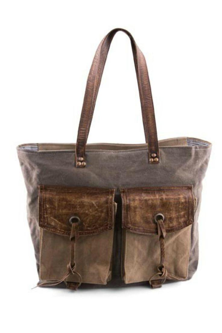 Boda - Grey Canvas Shoulder Bag