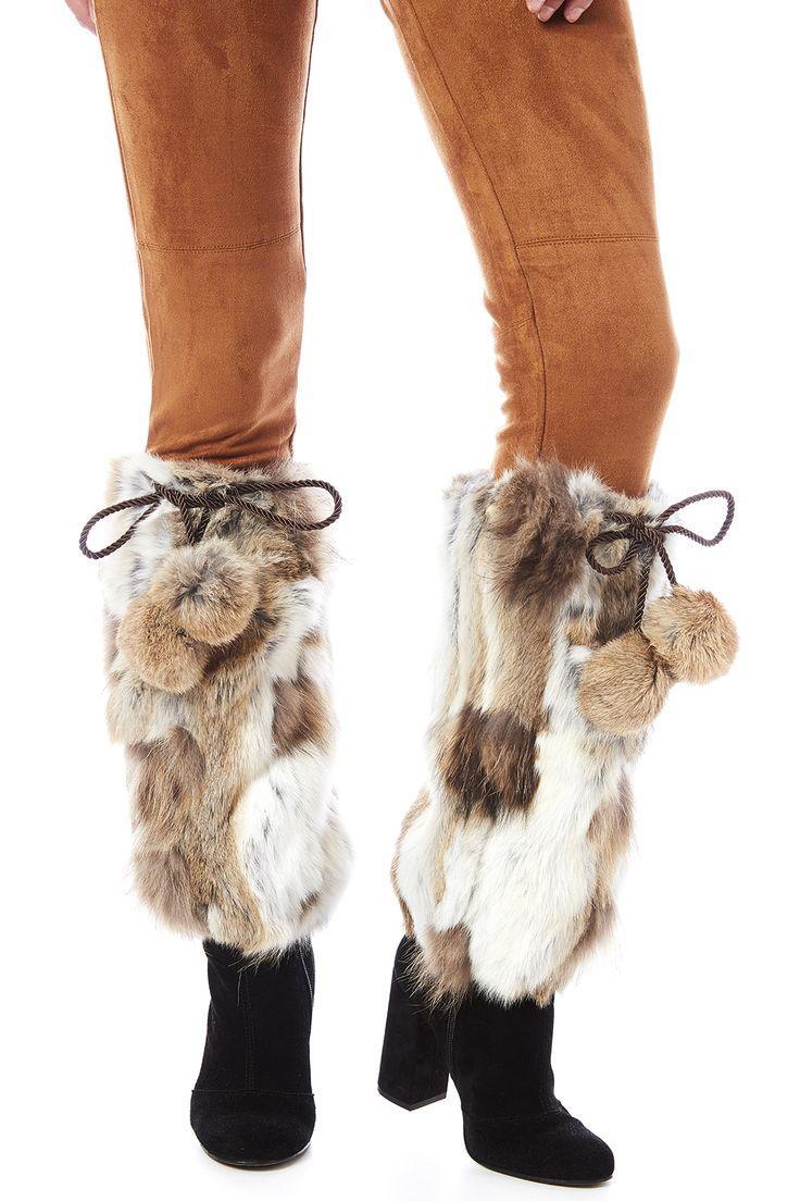 Свадьба - Natural Fur Boot Covers