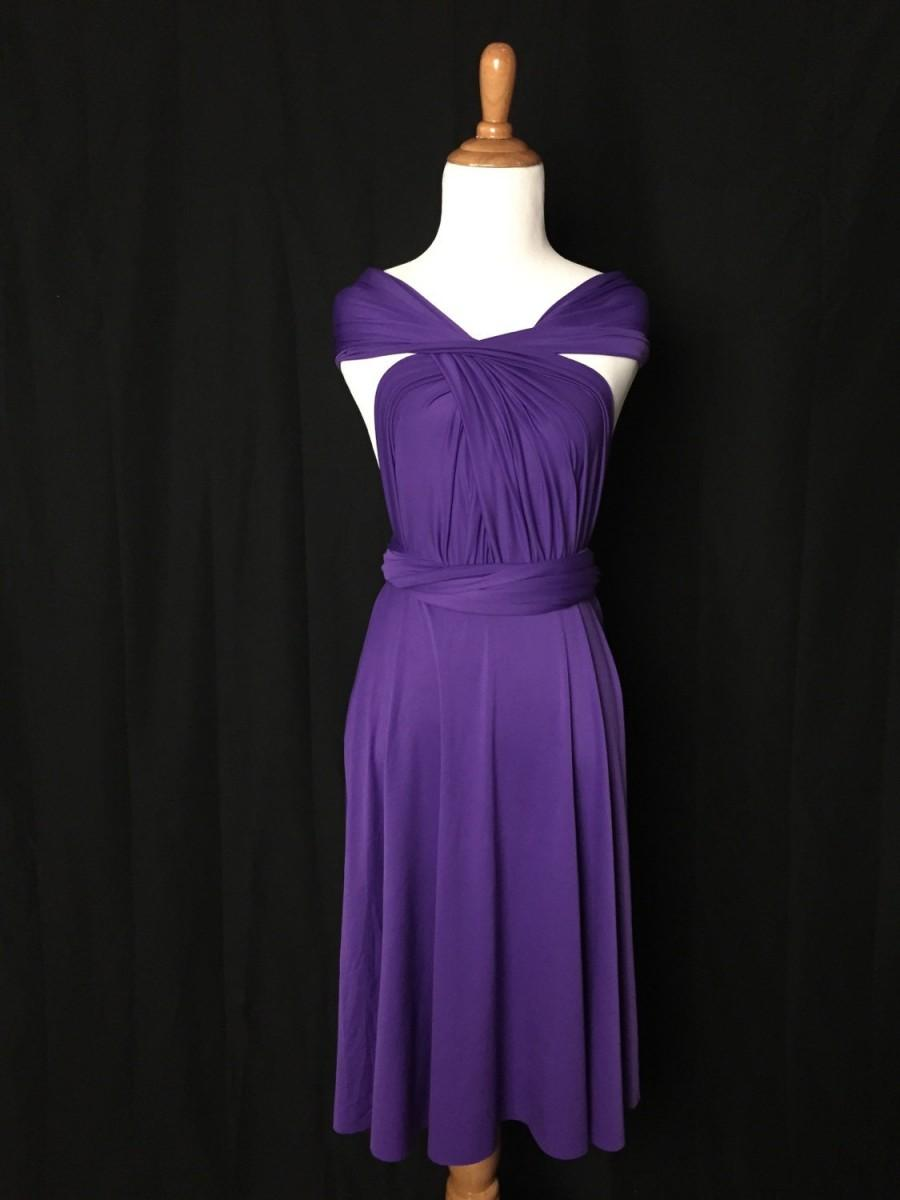 Royal purple dressbridesmaid dress infinity dressknee length royal purple dressbridesmaid dress infinity dressknee length wrap convertible dressrty dress b10 ombrellifo Image collections