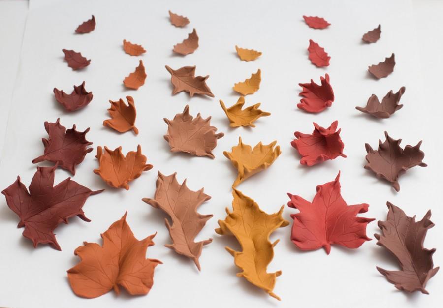 Mariage - Fondant Fall leaves