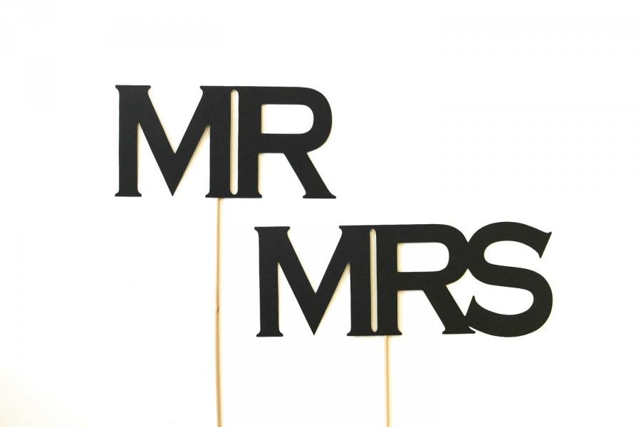 Mariage - Photobooth Props. Wedding Photo Prop. Photo Booth Props. Mr. & Mrs.