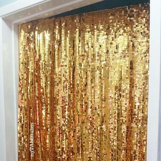Mariage - Gold Sequin Backdrop - Sequin Table Cloth by myTALEfeathers - bride, wedding, bachelorette party, bridal shower, sweetheart, photo booth