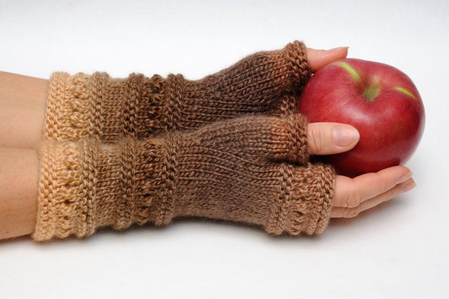 Knit Fingerless Gloves Fingerless Mittens Girlfriend Gift ...