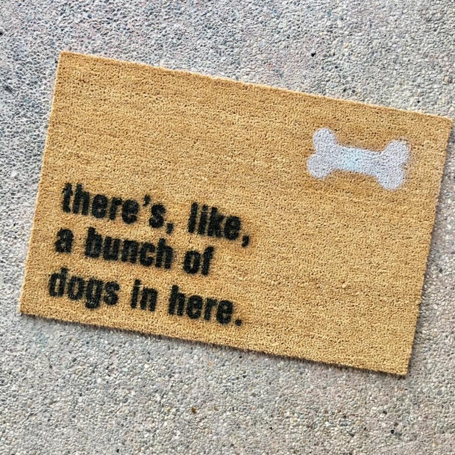 "The ""bunch Of Dogs In Here"" Doormat - Gift For Animal ..."