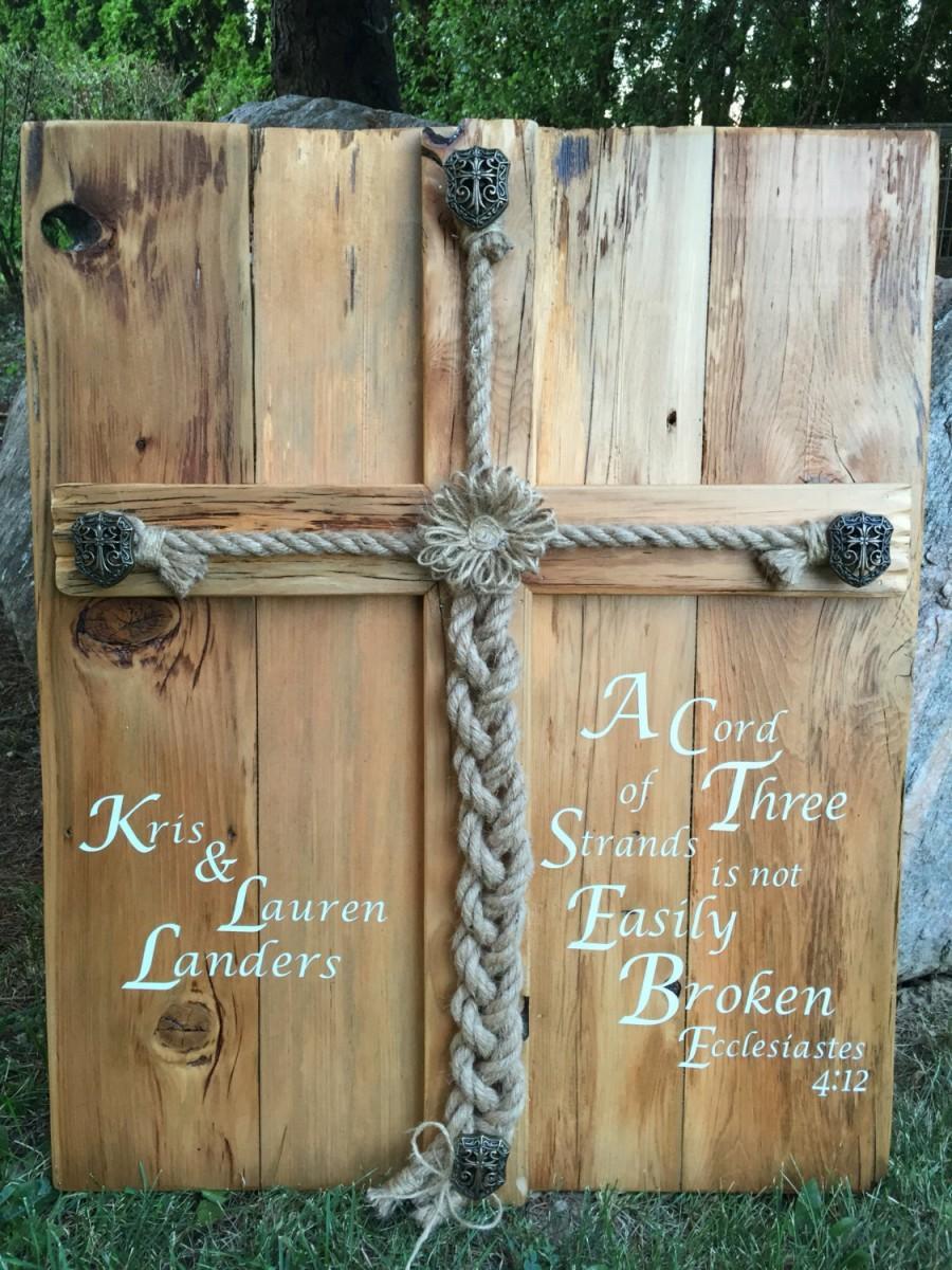 Personalized Rustic Wedding Alternative Unity Ceremony Idea Jute ...
