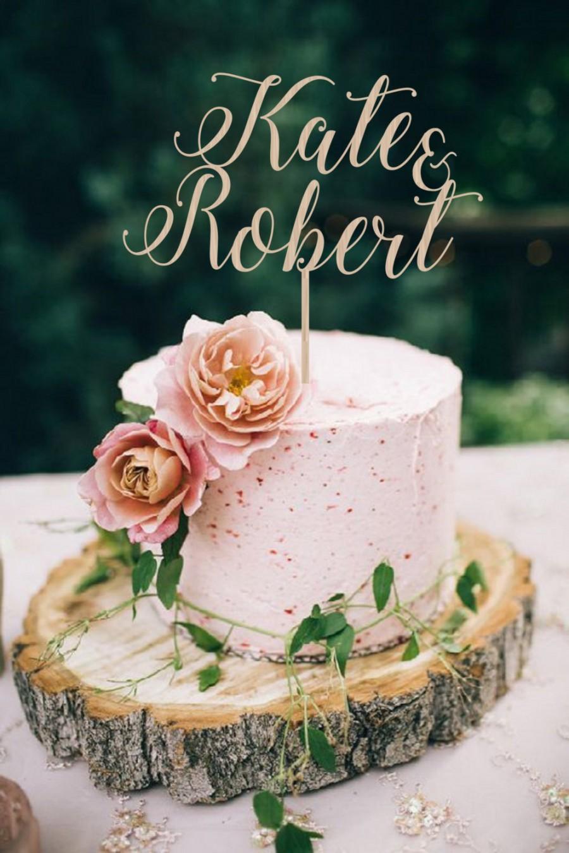 Свадьба - Wedding Cake Topper Names  Wedding Cake Topper Mr Mrs  Personalized  Wedding Cake Topper  Wood Cake Topper