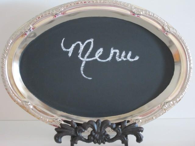 زفاف - Chalkboard WITH Easel   Blackboard Hostess Gift Party  Oval Spring Wedding