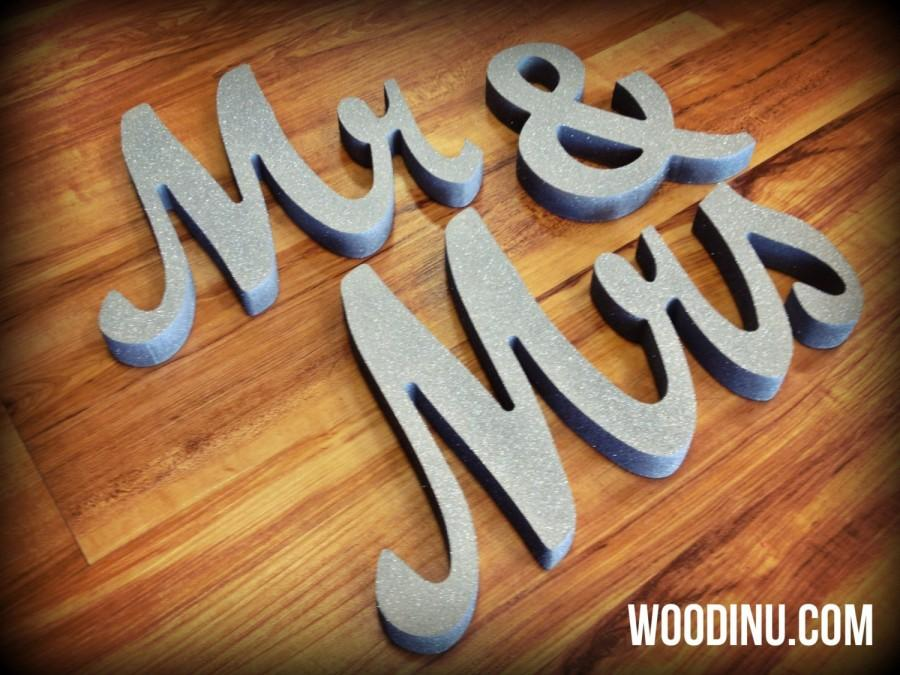 Wedding - Mr and Mrs Wedding Signs - Mr and Mrs Letters - Mr and Mrs Wedding Table Decoration - Mr and Mrs Sign - Mr and Mrs Wedding Photo Prop -